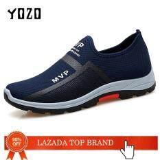 Giày thể thao nam chất liệu lưới thoáng khí thấm hút mồ hôi thích hợp hoạt động chạy bộ đi bộ ngoài trời YOZO