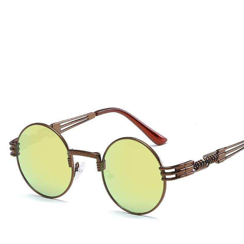 fcdded2fe27 Kurt Cobain Sunglasses New fashion Men Women Metal Round Shades Brand  Designer Sun glasses Mirror High