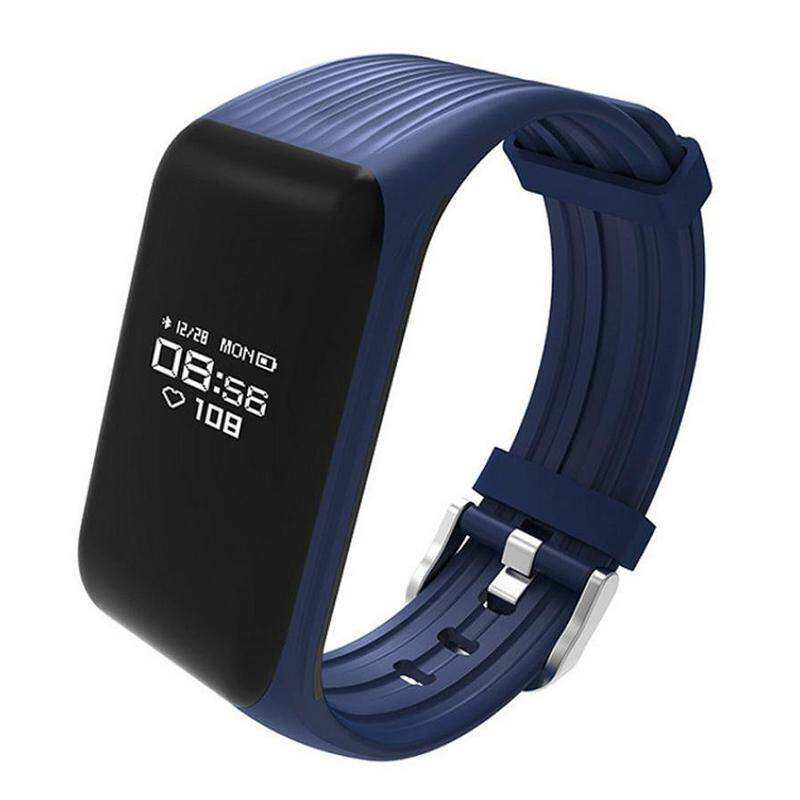 【Flash Deal】【ONLY The First Images Color Left】 Newest Rectangle Bluetooth Silica Smart Bracelet K1 Sport Smart Wristband Electronic Watch Fitness Tracker Heart Rate Monitor (Blue) Malaysia