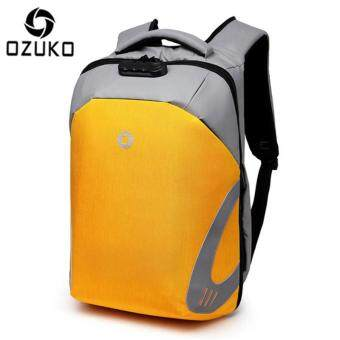OZUKO External USB Charging Rain-proof Anti-theft 15.6-Inch Laptop Backpack Large Capacity Business Backpack Casual Multifunction Travel Bag Fashion School Bag