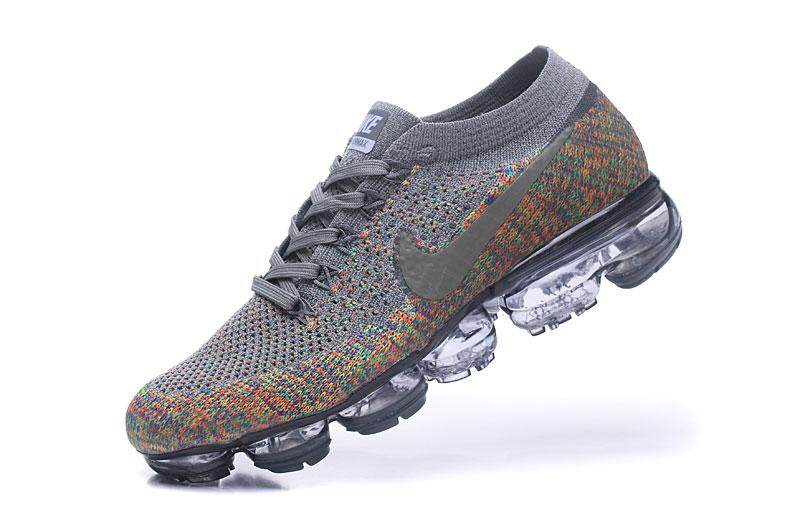 f8d088ee1bca09 2018 Nike Air VaporMax Flyknit Men s Running Shoes Breathable Sports  Sneakers (Grey)