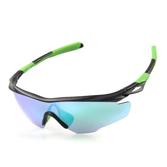 Men Women Outdoor Windproof Motorcycle Cycling Glasses UV Protection OutdoorBike Riding Sports Eyes Protect Equipment(Green)