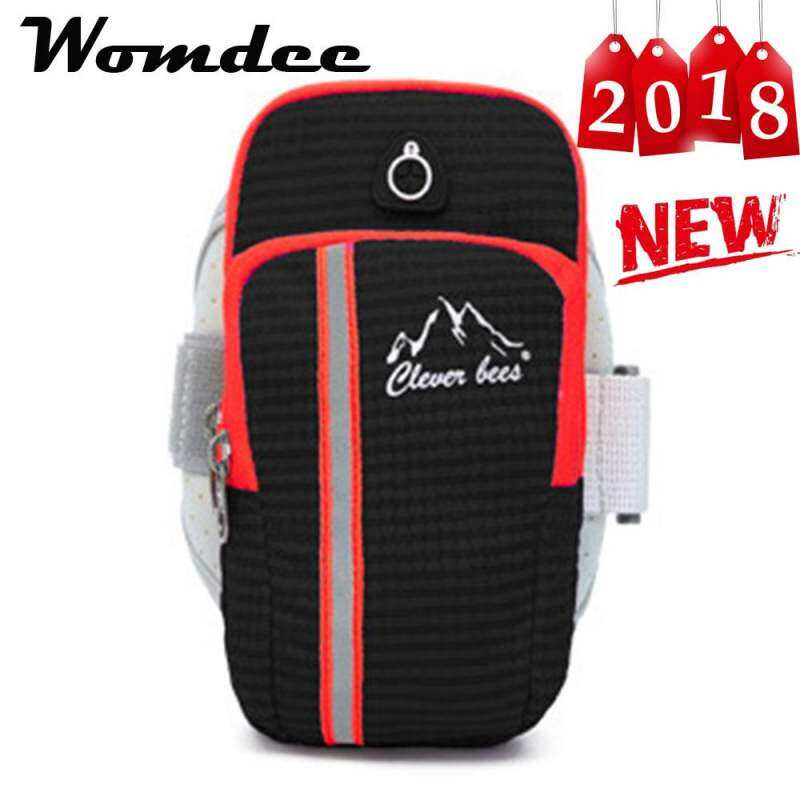 Womdee Sports Armbands, Double Pockets Multifunctional Outdoor Sports Armbands Running Gym General Smartphone Waterproof Handbag Headphone Jacks(9*4*17cm) By Better Me.
