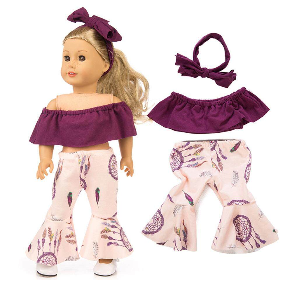 Bell-bottoms Suit for Doll Girl Clothes Suit 2pcs//set Fashion Doll Off Shoulder