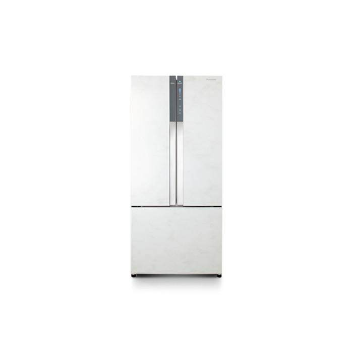 PANASONIC NR-CY558GWMY FRIDGE 3 DOORS G547L ECONAVI INVERTER GLASS WHITE