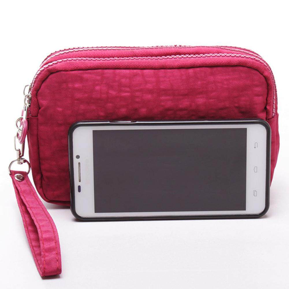 Hiqueen Lady Phone Wallet Package 3 Layers Handbag Cross Section Clutch Bag Large Capacity Valentines Gift