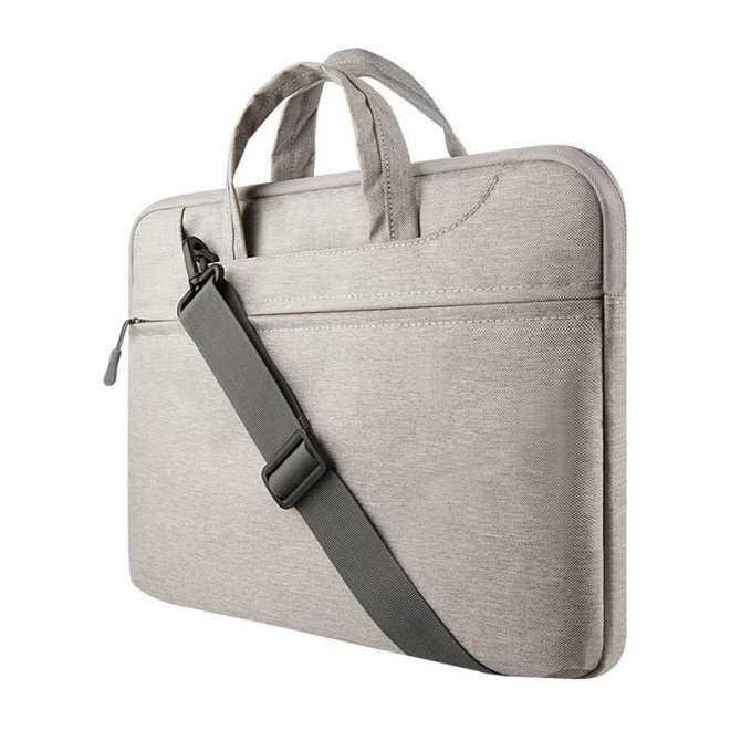 Dengan Harga Murah Tas Tangan Laptop Felt untuk Mac Book Air/Pro/Retina Tahan Air Tempurung Pelindung Casing Notebook 15.6 Inci Comput Tas (Abu-abu)
