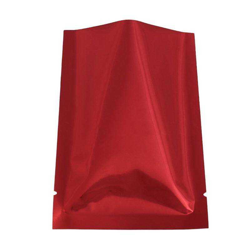 100pcs/lot recyclable heat sealing open top aluminum foil Vacuum Package Pouch red flat Myla bag(Bright red)6*9cm - intl