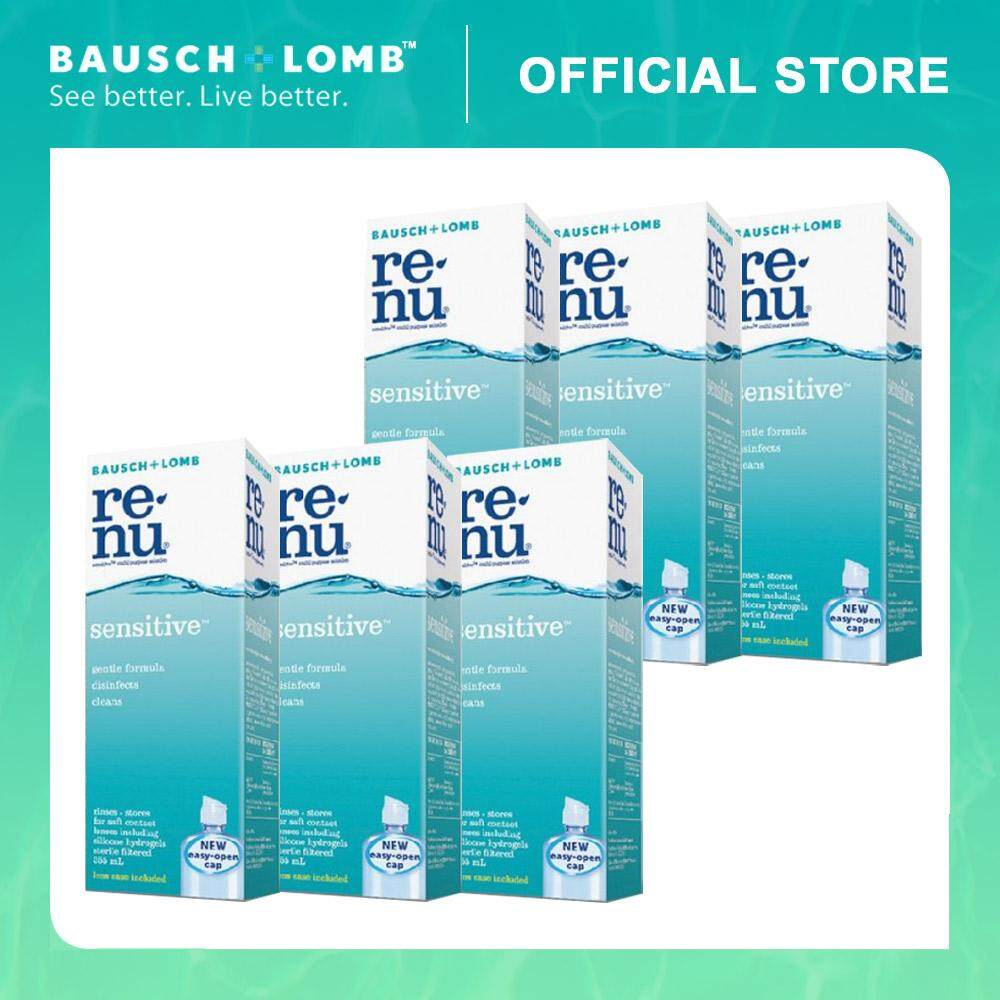Bausch & Lomb Renu Sensitive 355ml 6-Pack Combo Multi-Purpose Solution (6 Boxes)