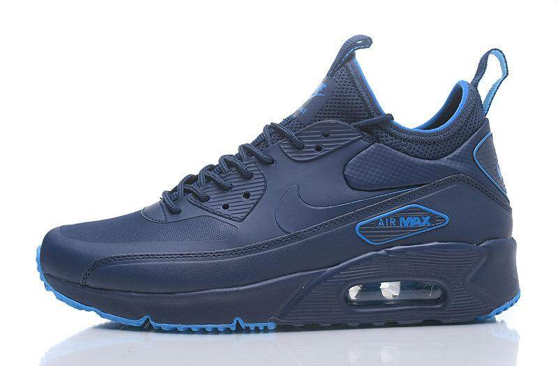 9d3880c6c68f Nike Air Max 90 Ultra Mid Winter Men s Running Sneaker Shoes Fashion Sport  Shoes (Blue