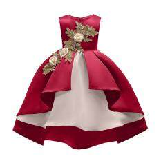 Veecome Bé Gái Thêu Đầm Công Chúa Dự Tiệc Cưới Hoa Cô Gái Chính Thức Đầm cho 2-7Y Trẻ Em