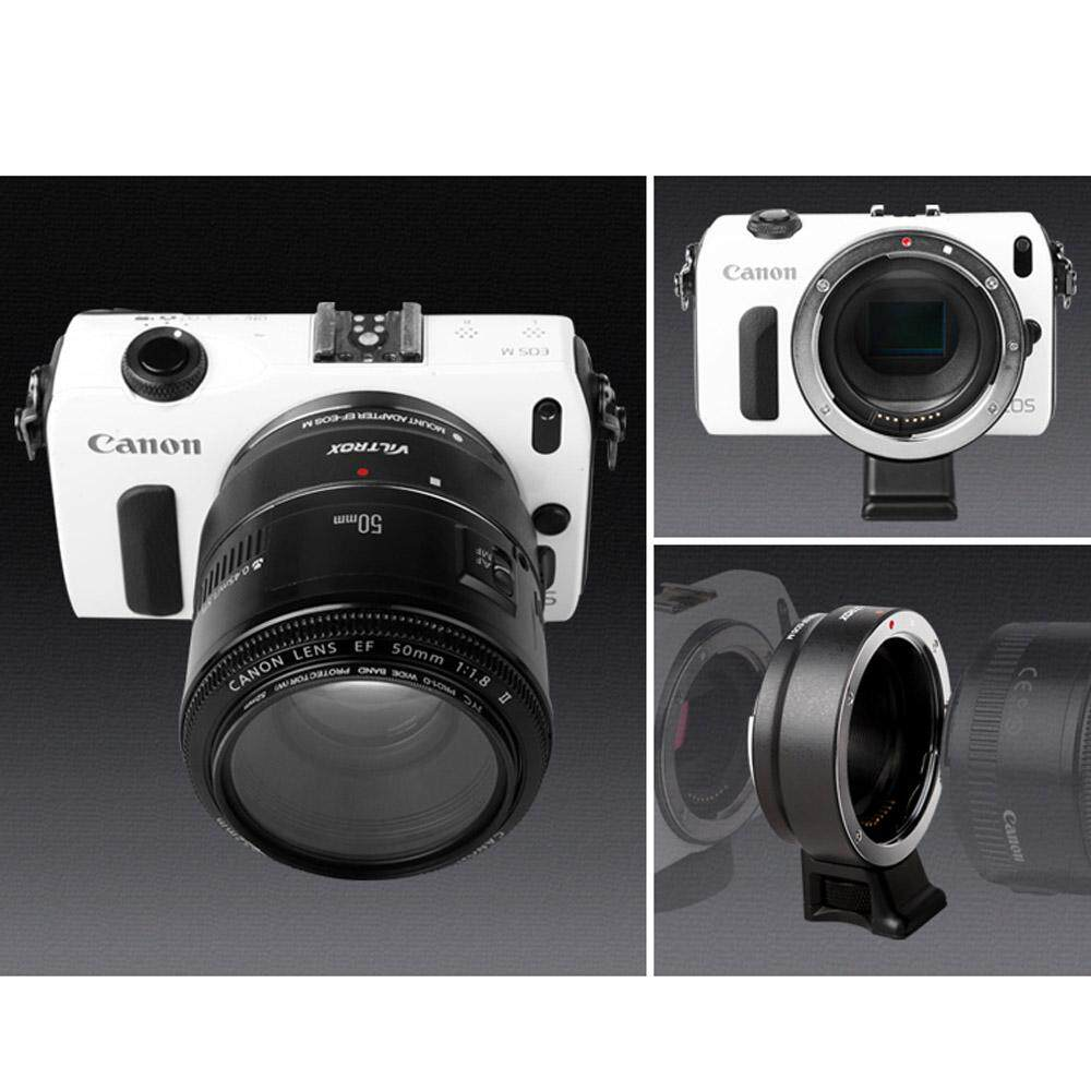 Canon EOS EF Mount EF-S Lens to Canon EOS M EF-M Mount Mirrorless Camera Adapter