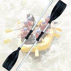 THỜI ĐẠI 1 cặp Thuyền Bơm Hơi Thuyền Cao Su Hợp Kim Nhôm Mái Chèo Chiều Dài Có Thể Điều chỉnh Mái Chèo bạc-quốc tế
