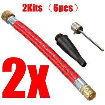 2pcs Inflating Pump Up Tool Set Valve air pin inflator Needle Adaptor For Sports ball