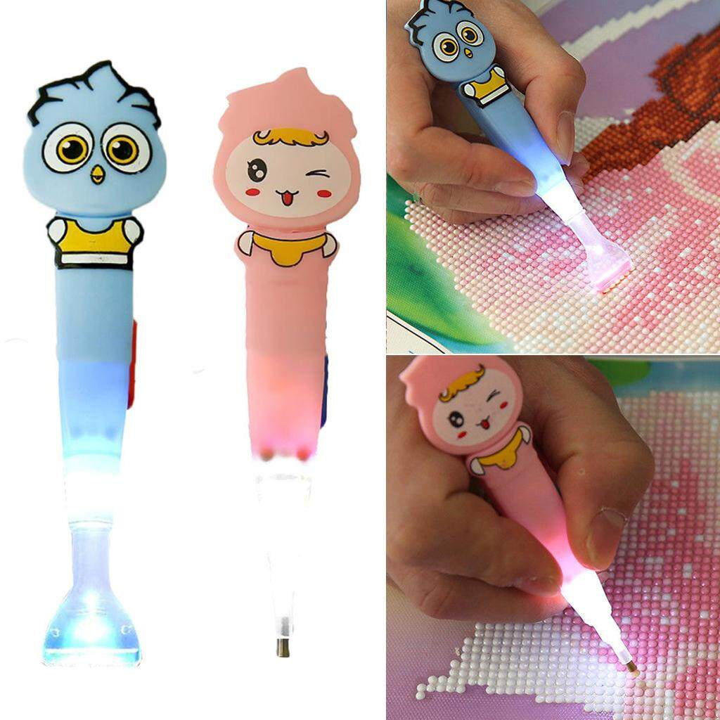 Prettyia Point Drill Pen with Led Light for 5D Diamond Painting Craft Needlework