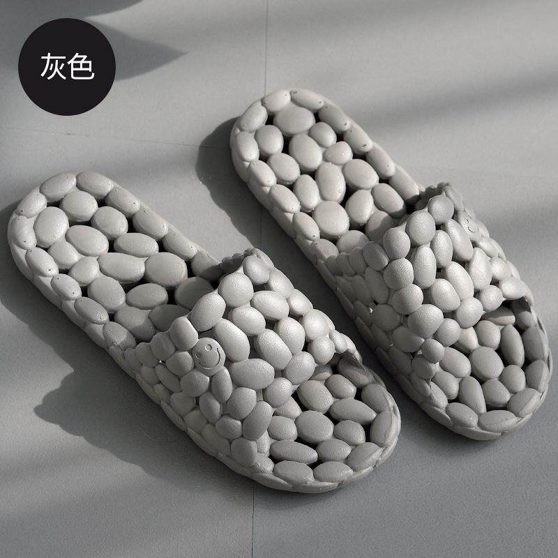 Summer Bath Shower Slipper Non-slip Massage Plastic Soft Bottom Leaking Breathable Hollowed Out Shower Slippers Men's Summer
