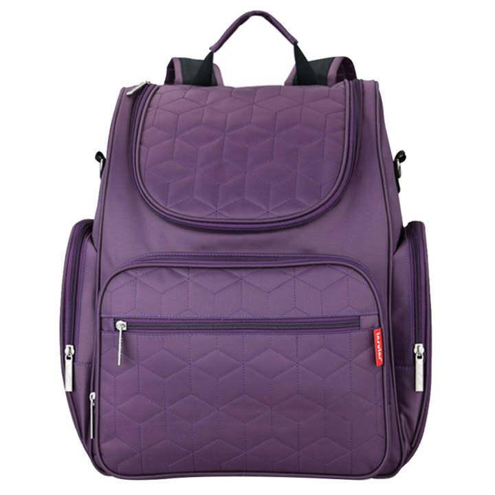 Baby Infant Big Capacity Diaper Nappy Changing Bag Mummy Maternity Bag Backpack Stroller Bag Organizer Kit Purple
