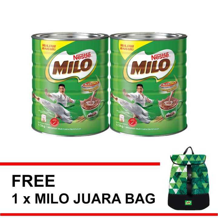 MILO 1.5kg ,Buy 2 FREE MILO BACKPACK Triangular