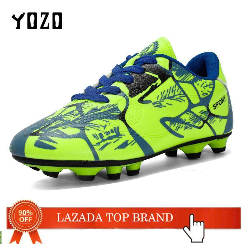 YOZO High Ankle Men Football Shoes Newest Long Spikes Training Football Boots Hard-Wearing Soccer Shoes High Top Soccer Cleats 31-43