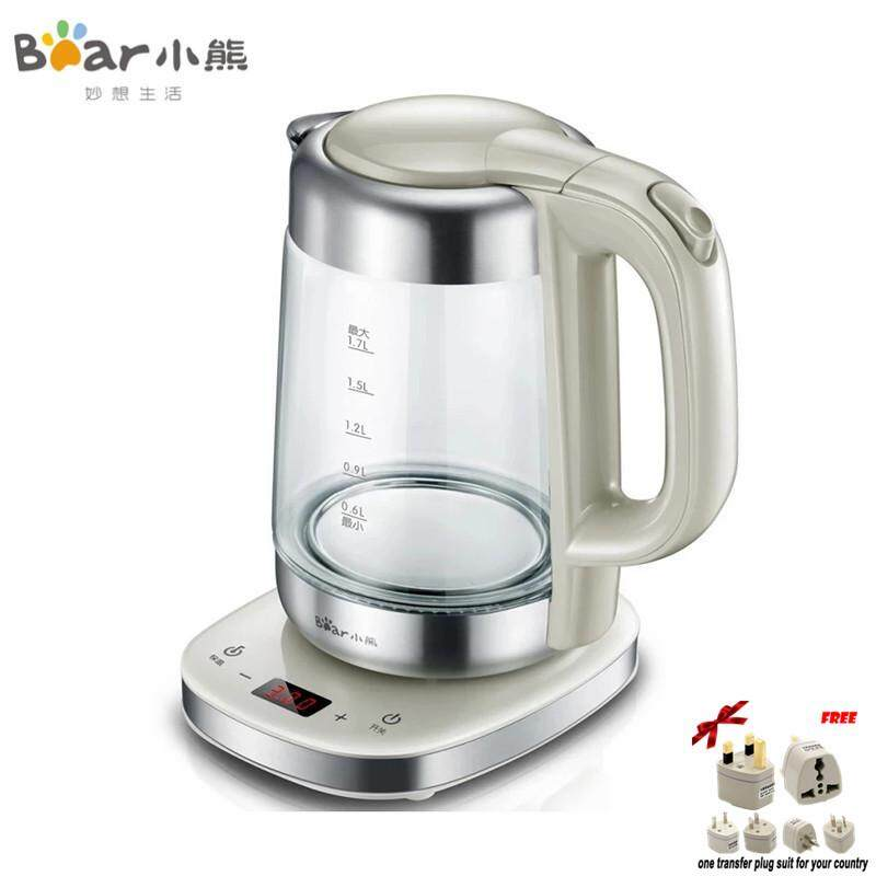 LAHOME Bear ZDH-A17J1 Thick Glass Insulation Electric Kettle Automatic Temperature Control
