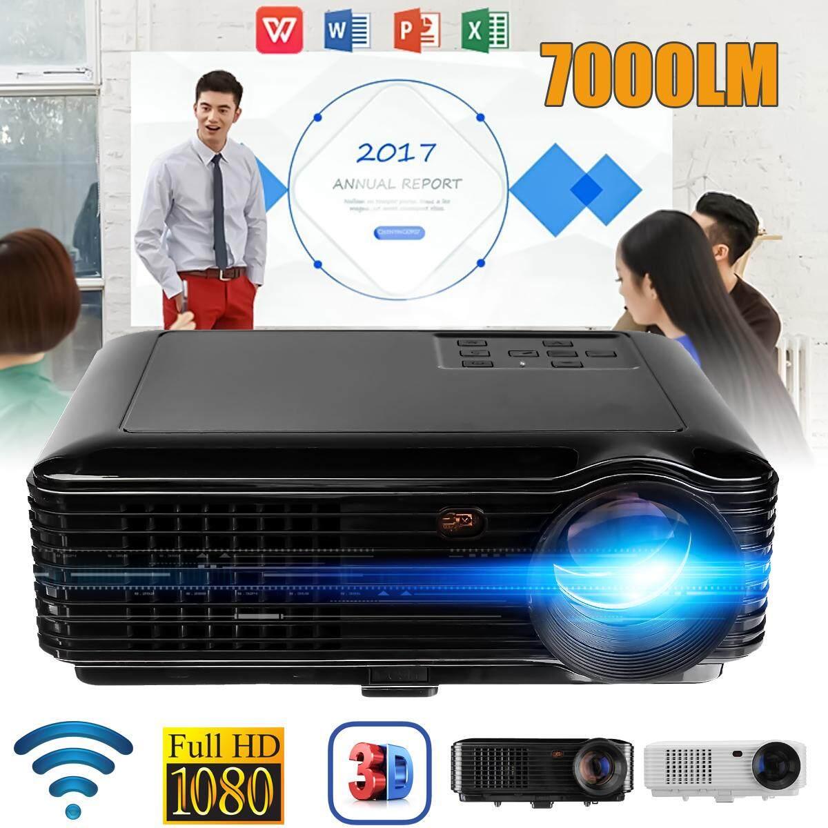 SV-228 Wifi 1080 p Video LED Máy Chiếu Gia đình SD TV/USB/VGA/PC EU cắm