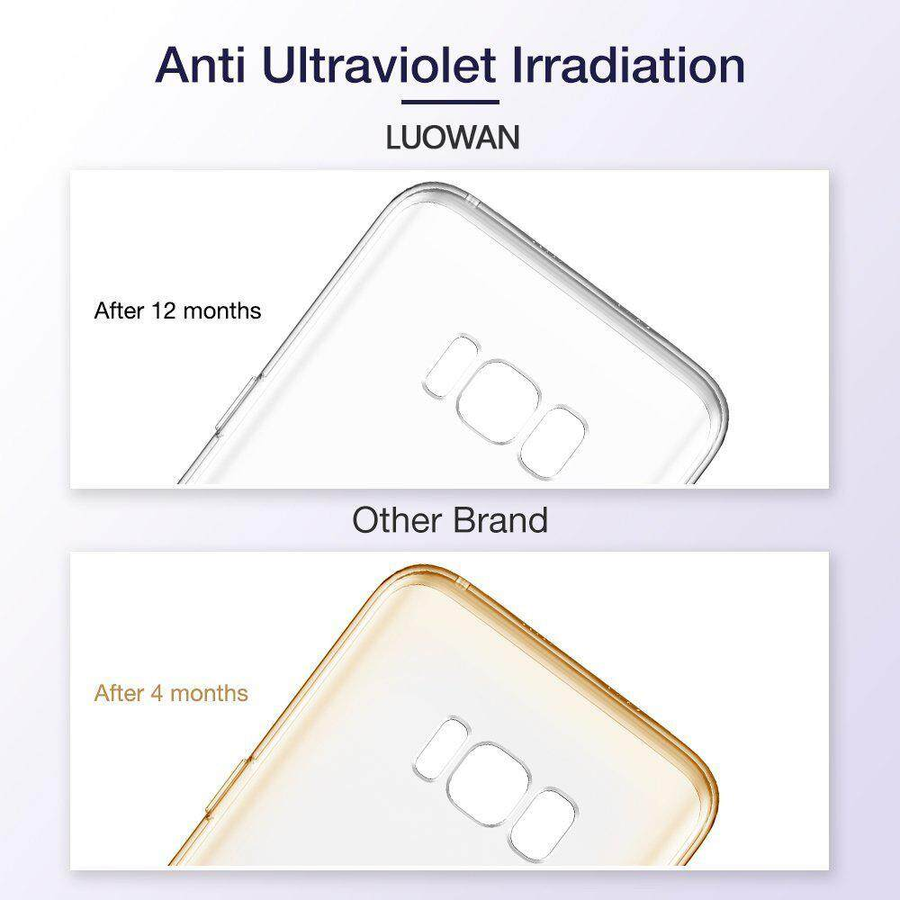 LUOWAN Galaxy S8 Plus Case with Clear Shock Resistant Protection TPU Bumper for Samsung Galaxy S8