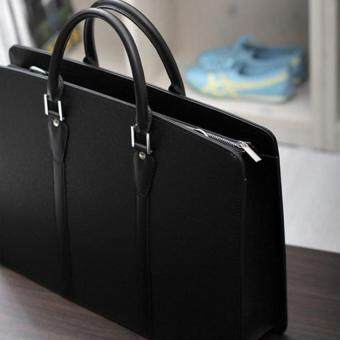 International New Brand Design Business Mens Handbag Portable Bag Men Koreansingle Shoulder Bag Laptop Bag Men Briefcase -Black Big Size (Intl)