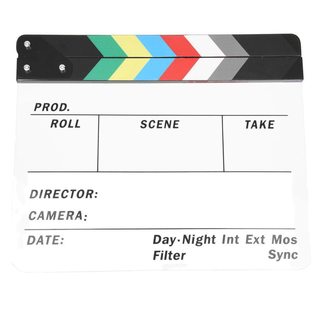 Acrylic Colorful Clapperboard TV Film Movie Hollywood Role Prop Cut Play Slate