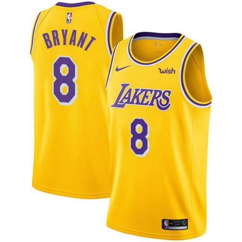 Áo Đấu Bóng Rổ Nam Thoải Mái Chất Lượng Cao NBA 2020 Los Angeles Lakers #8 Gold Swingman Giá Tốt Không Thể Bỏ Qua