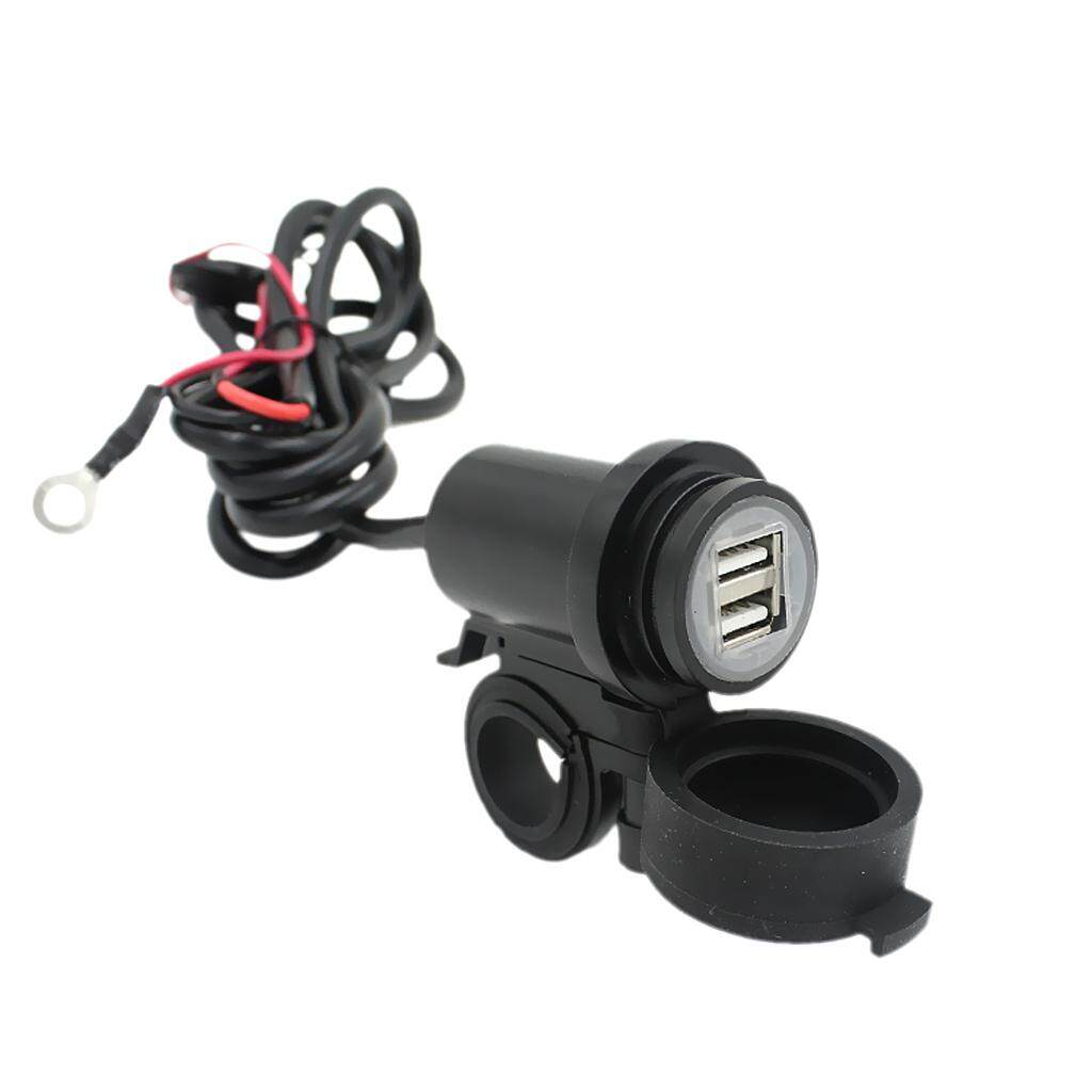 Miracle Shining Motorcycle 12V-24V Waterproof USB Phone Charger Adapter Double USB 2.1A