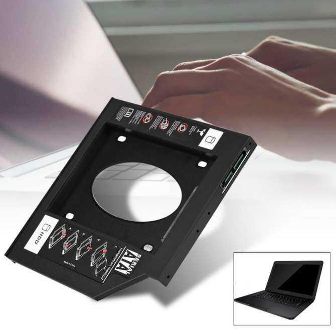 2.5 SATA HDD SSD Enclosure Hard Disk Drive Bay Caddy Optical DVD Adapter for Laptop 12.7mm