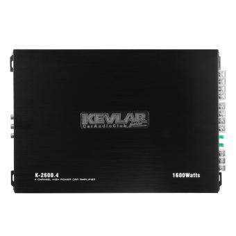 KEVLAR 1600 Watt 4-Channel CH 12V Car Auto Audio Power Amplifier Amp Aluminum