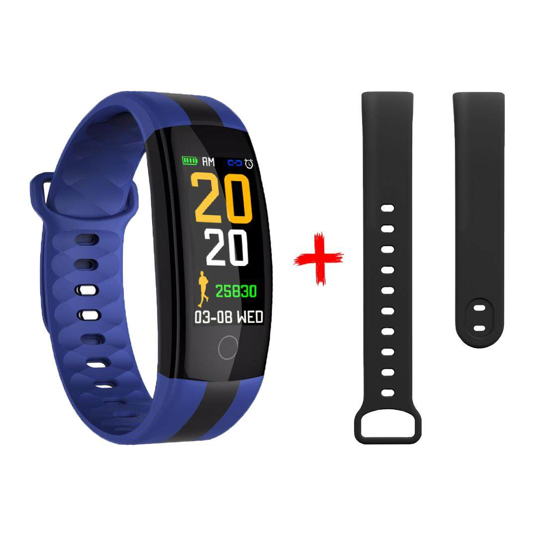 QS01 smart color bracelet touch heart rate sleep monitoring sports pedometer bracelet   Watch