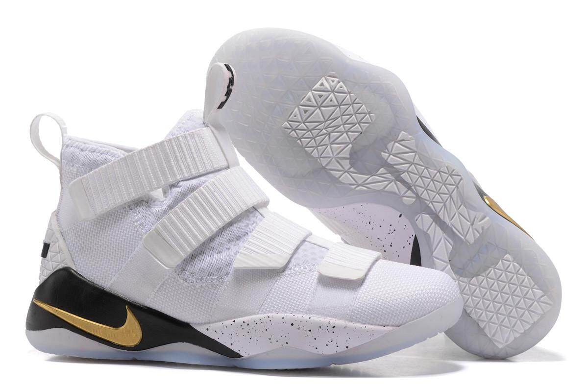 check out ea84d 8a95f Nike LeBron 11 Men s Breathable Outdoor Sneakers Classic Professional Basketball  Shoes (White)