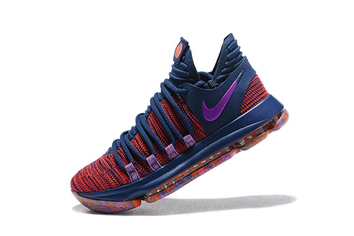 best service 45922 15288 Discount Nike  Men s Zoom KD 10 Basketball Shoe Breathable Training  Athletic Shoe (Purple Blue