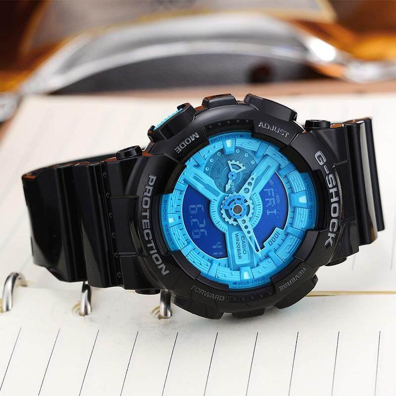 สอนใช้งาน  นครศรีธรรมราช 【 STOCK】Original _ Casio_G-Shock นาฬิกาข้อมือผู้ชายผู้หญิงนาฬิกากีฬาอิเล็กทรอนิกส์ Autolight และนาฬิกาดิจิตอลกีฬานาฬิกาเรซิน GA-110B-1A2