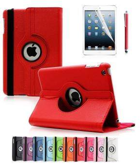 For Apple iPad 2/3/4 Case, 360 Degree Rotating Stand Case Cover with Auto Sleep / Wake Feature for iPad 2/3/4(10 Colors)this case is for Apple iPad 2 3 4 (Red)