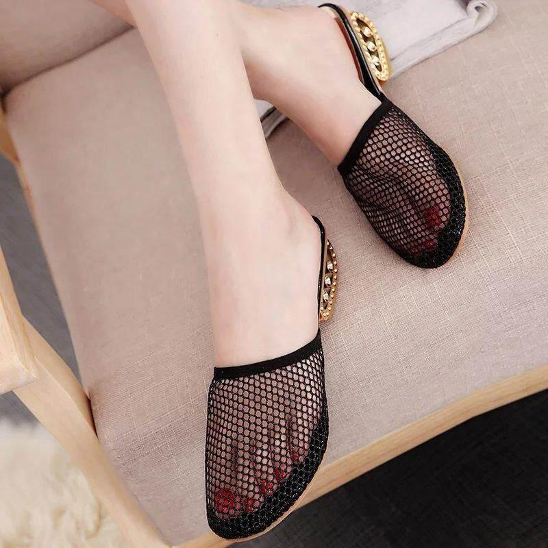 db0a2acc80ce98 YJS 2018 Summer Woman Shoes PlaYJSorm bath slippers Beach Flip Flops flat  Heel Slippers For Women