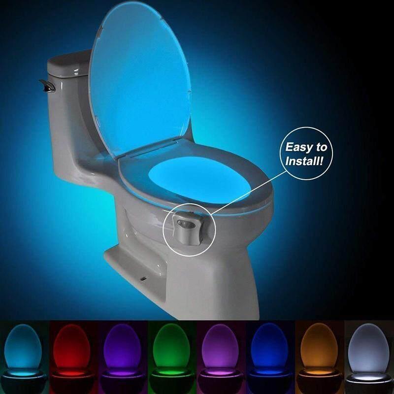 Vastar Phòng Tắm Vệ Sinh Đèn Ngủ LED Thông Minh Cơ Thể Chuyển Động Kích Hoạt vào ngày Tắt Ghế Đèn Cảm Ứng 8 Màu PIR Vệ Sinh Ban Đêm ánh sáng