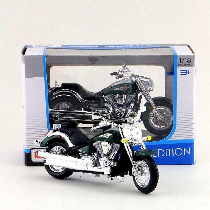 Kmdshxns Maisto Kawasaki Vulcan 2000 Hijau Tua Kids 1:18 Mainan Diecast Alloy Motor