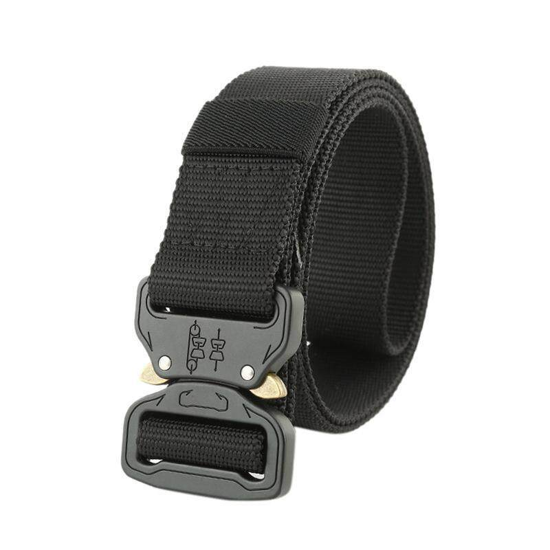 Military Equipment Quick Release Army Belt Men Heavy Duty Combat Tactical Belts Durable Nylon Strap Waist Belt 4.5cm