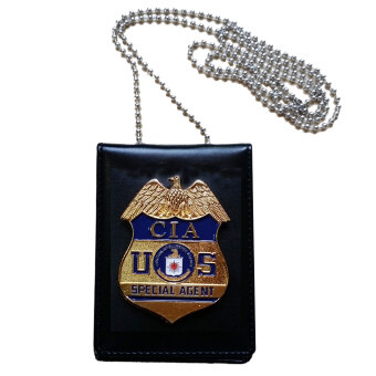 Collection USA CIA Special Agent Officer Police Badge Card ID Cards Holder Cosplay