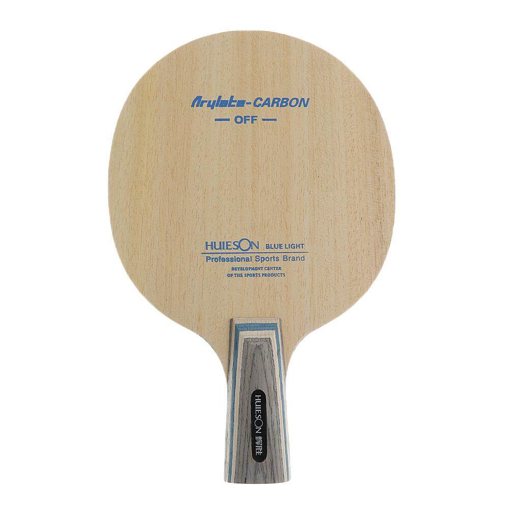 Arylate Carbon Table Tennis Paddle Short Penhold Handle Bat Pong Racket Ping