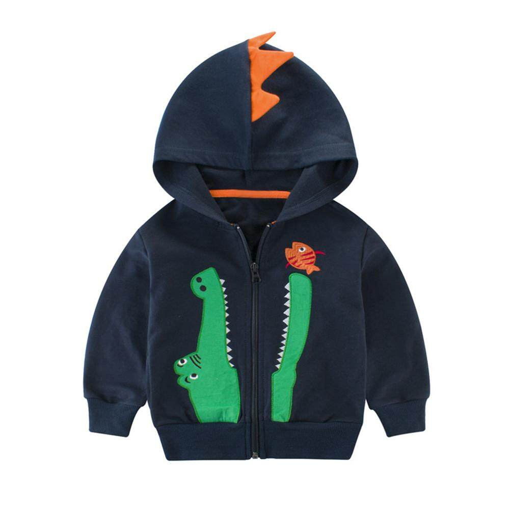 986c87c0f Product details of ZJ Children Boys Fashion Zipper Hooded Sweatshirt  Cartoon Crocodile Embroidery Long-Sleeve Cardigan CoatCoat Outerwear high  quality