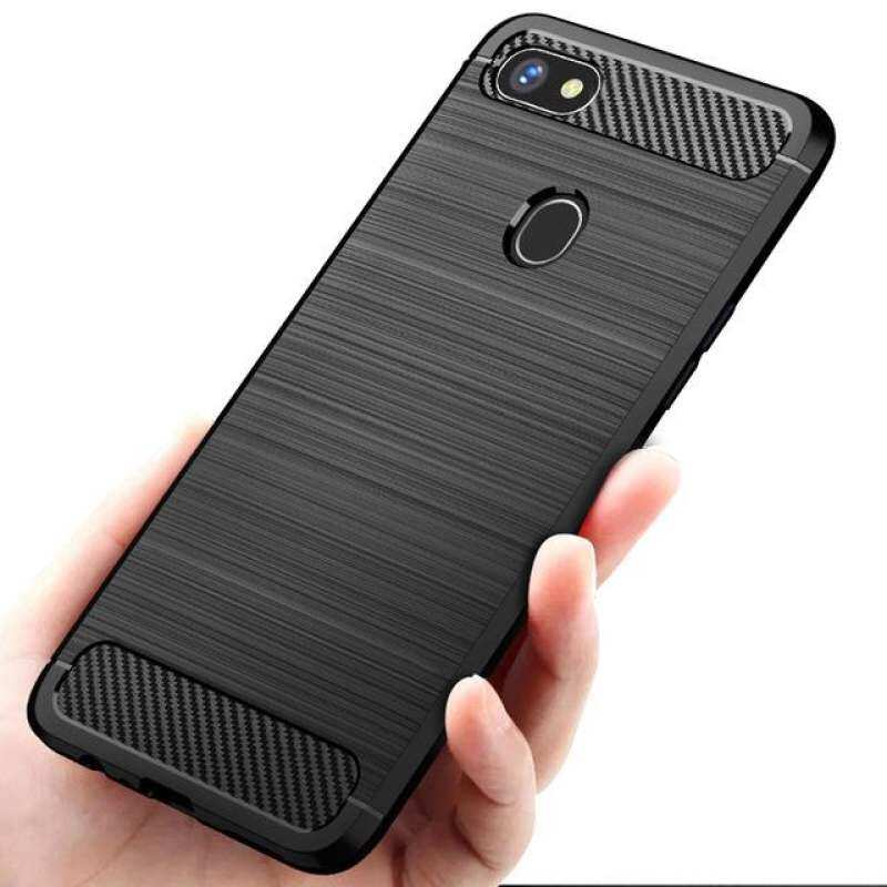 Sheto For OPPO F7 Case Brushed Carbon Fiber Soft TPU Silicone Ultra Thin Shockproof Casing Cover