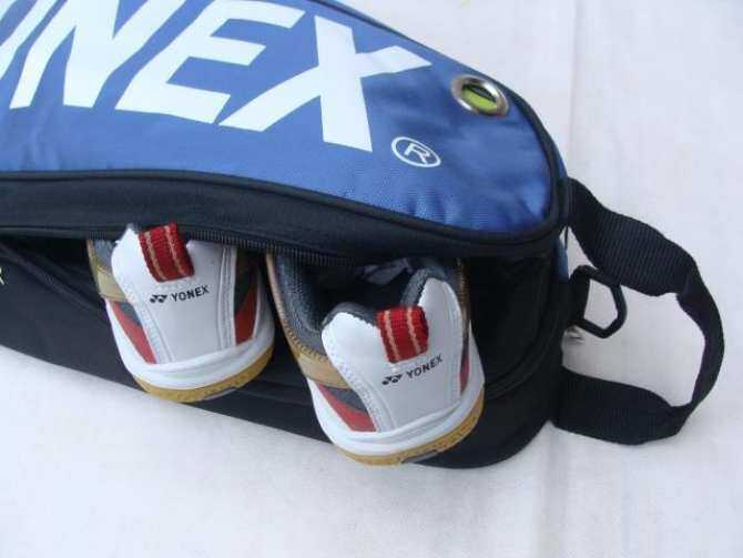 Yonex 9332 Badminton Bag Double Zips Bag with Shoes Compartment + 2 Main Packets 2 Main Packets 2 Sides Pockets + 1 Sling Straps - intl
