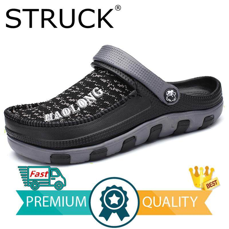 Men's Casual Shoes Mens Summer Shoes Sandals 2017 New Breathable Men Slippers Mesh Lighted Casual Shoes Slip On Shoes Beach Flip Flops Buy Now