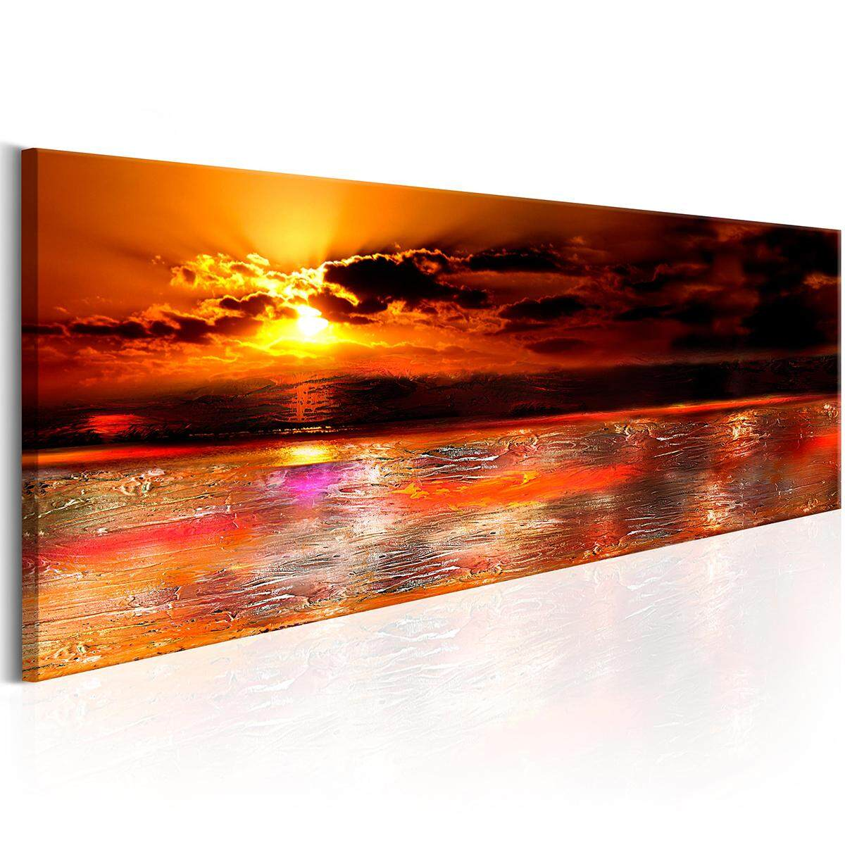 WALLPAPERS XXL ABSTRACT SEA LANDSCAPE CANVAS PICTURES LIVING ROOM #40*120cm