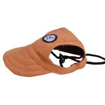 สุนัขหมวกเบสบอล Leisure Cool ผ้าฝ้ายอุปกรณ์สำหรับสุนัขหมวกลูกสุนัข (สีส้ม, S)-