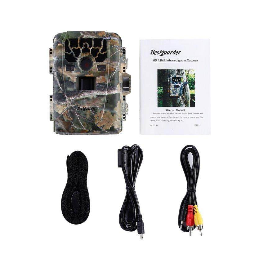 Carcool 12MP 1080P Waterproof Infrar Night Vision Game & Trail Camera Scouting